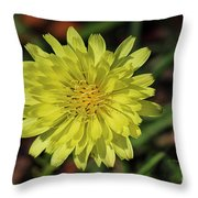 Little Wild Yellow Throw Pillow
