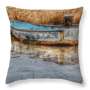 Little Wooden Boat Throw Pillow