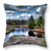 Big Woodhull Creek Throw Pillow