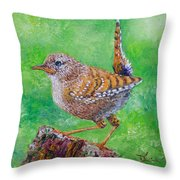 Little Wren Throw Pillow