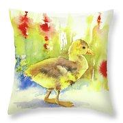 Little Yellow Duck Throw Pillow