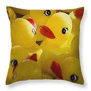 Little Yellow Duckies Throw Pillow