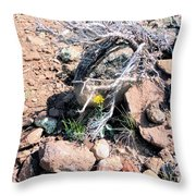 Little Yellow Flower In The Wild Throw Pillow