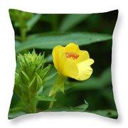 Little Yellow Flower Throw Pillow