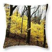 Little Yellow Trees Throw Pillow