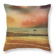 Littlehampton Beach Throw Pillow