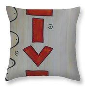 Live Acrylic Watercolor Throw Pillow