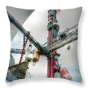 Live Crab Hdr 2164 Throw Pillow