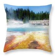 Live Dream Own Yellowstone Park Black Pool Text Throw Pillow
