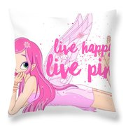 Live Happy Test Throw Pillow