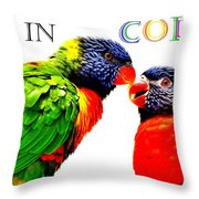 Live In Color Throw Pillow