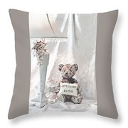 Live, Laugh And Love Bear Throw Pillow