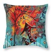 Live Life II By Madart Throw Pillow