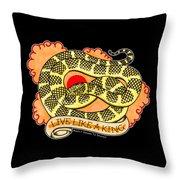 Live Like A Florida Kingsnake Throw Pillow