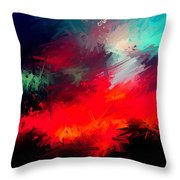 Splashing Colors Of What I Seen Throw Pillow