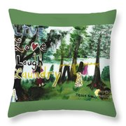 Live, Love, Laugh, Laundry Throw Pillow