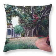 Live Oak Gardens Jefferson Island La Throw Pillow