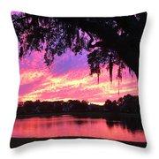 Live Oak Sunset Throw Pillow