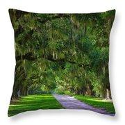 Live Oaks Throw Pillow