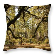 Live Oaks Silhouette Throw Pillow