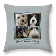 Live Rescue Love Throw Pillow
