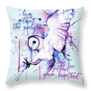 Live Without The Sunlight Owl Throw Pillow