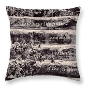 Live Your Life Fully Throw Pillow