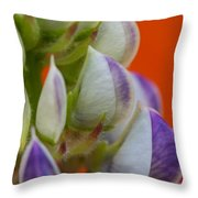 Lively Lupine Throw Pillow