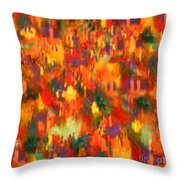 Lively Village Throw Pillow