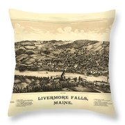 Livermore Falls Maine Throw Pillow