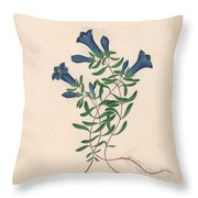 Liverpool Gentian With One Insect Throw Pillow