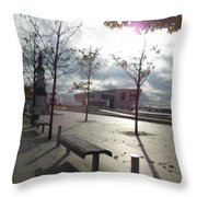 Liverpool In The Fall Throw Pillow