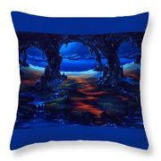 Living Among Shadows Throw Pillow