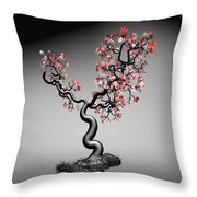 Geometric Tree In Water 1 Throw Pillow by GuoJun Pan