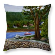 Living In Annapolis Royal Throw Pillow