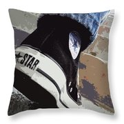 Living In Converse - Hurries In Converse Throw Pillow