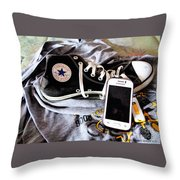Living In Converse Resting Time  Throw Pillow