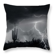 Living In Fear-signed Throw Pillow