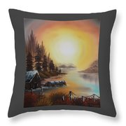 Living On A Lake Throw Pillow