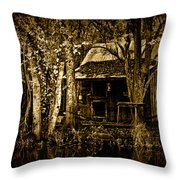 Living On The Bayou Throw Pillow