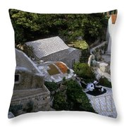 Living On The Cliffside Throw Pillow