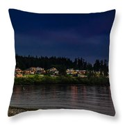 Living On The Edge Throw Pillow by Blanca Braun
