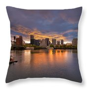 Living On The Willamette River Throw Pillow