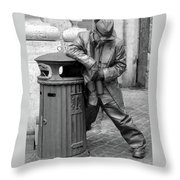 Living Statue Rome Throw Pillow