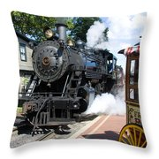 Living Steam Throw Pillow