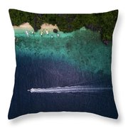 Living The Dream In El Nido Philippines Throw Pillow