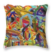 Living Together Throw Pillow