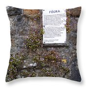 Living Wall At Donegal Castle Ireland Throw Pillow