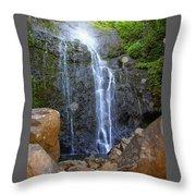 Living Waters - Wailua Falls Maui Throw Pillow