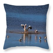 Living With Gusto Throw Pillow